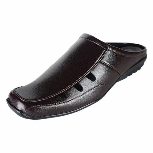 55f62c2e894ea Synthetic Leather Black Mens Stylish Sandal