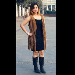Leather Fringed Dress