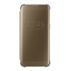 Samsung S7 Edge Clear View Cover Gold