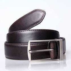 Opulus Black Leather Belt, Size: 28 To 48 Inches, Packaging Type: Box Oacking