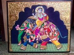 Krishna Tanjore Painting