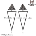 Fashion Diamond Sterling Silver Earrings