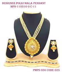 Golden Pearl Pendant Set