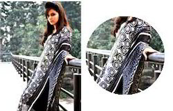 Black Zari Work Chanderi Dupatta