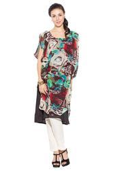 Designer Latest Styling Indo Wester Long Ladies Kurti Suit