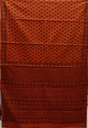Hand Embroidered Cotton Saree