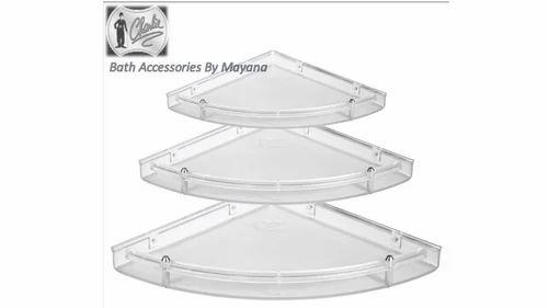 ABS Unbreakable Multipurpose Shelf / Bathroom Corner Shelf