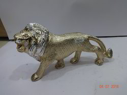 Golden & Silver Aluminium Lion, for Interior Decor, Size/dimension: Length : 8, Width : 9