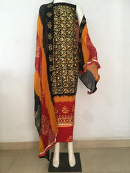 Block Print Wax Batik Salwar Suit