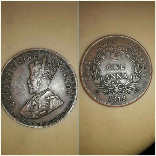 1818 East India Company Coin