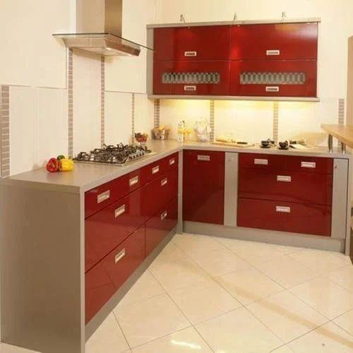 L Wooden Modular Kitchen Manufacturer: Nagpur Modular Kitchen System, Nagpur