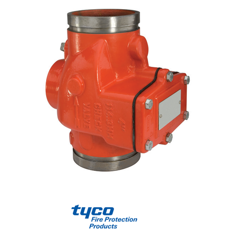 Tyco grooved end swing check valve ul listed fm approved