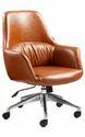 Standard Tan And Black Medium Back Executive Chair