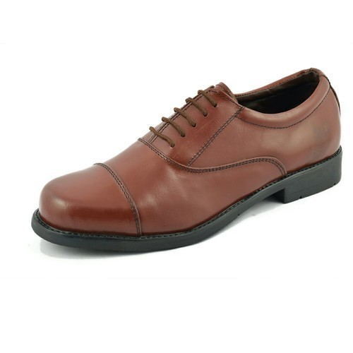 Leather And Synthetic Leather 9 And 10 Police Oxford Pattern Shoes, Construction And Labs/Hospitals
