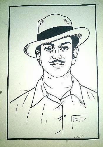Bhagat singh sketching