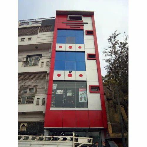 Commercial Building Front Elevation : Front elevation service building services jai