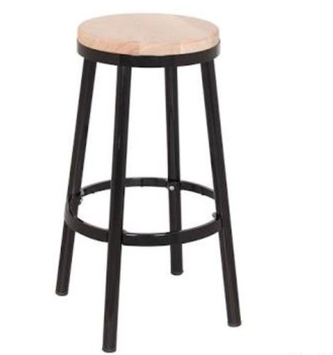 Awesome Round Iron Wooden Stool Creativecarmelina Interior Chair Design Creativecarmelinacom
