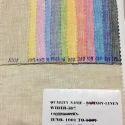 Multicolor Linen Fabric