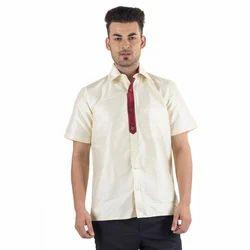 Plain Pure Silk Shirt