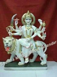 Marble Sherawali Maa Moorti