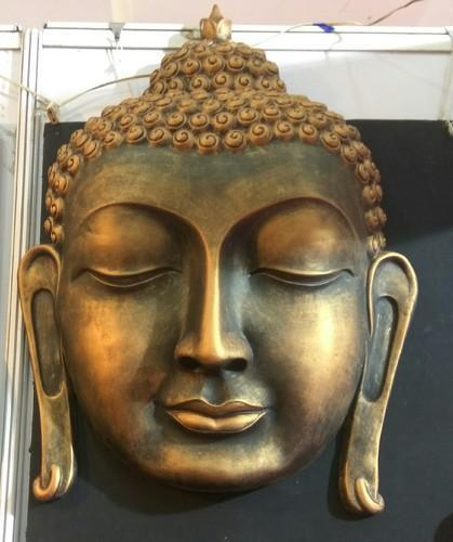 "Multicolor Modern Buddha Wall Mural Sculptor, Size/Dimension: 24""x 36"", Size: 24x36"