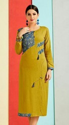 Defrent Regular Wear Ladies Long Kurti