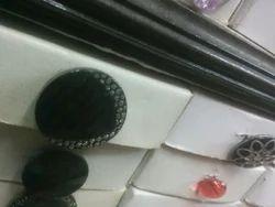 Black Designer Button
