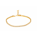 Ultra Shine Tennis Chain Crystal Wrap Gold Plated Bracelet