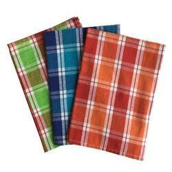 Cotton Check Yarn Dyed Kitchen Towel, Size: 26 x 16 inch