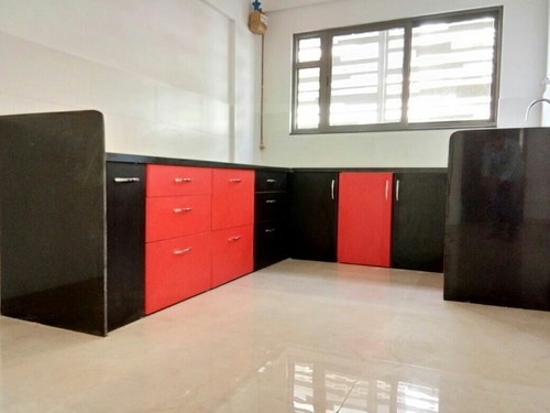 Red Black Kitchen Cabinets Rs 70000 Number Real Kitchens Id 17315976155