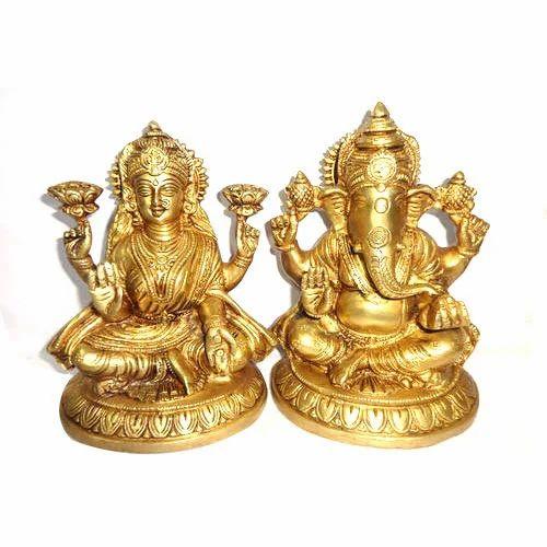 Brass Handecor Laxmi Ganesh Murti Rs 800 Kg Shyama Traders Id 9819973433