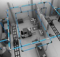 Industrial Pneumatic Pipe Line Projectsk