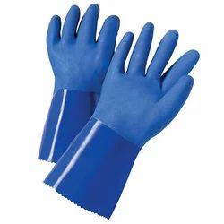 Unisex Blue PVC Coated Glove