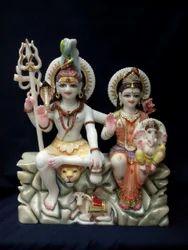Marble Shiv Parvati Idol