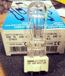 Osram Halogen Display Optic Lamp 230V 650W GY9.5 64717 CP89