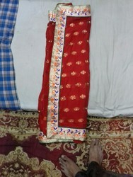 local work border Sarees, With Blouse Piece