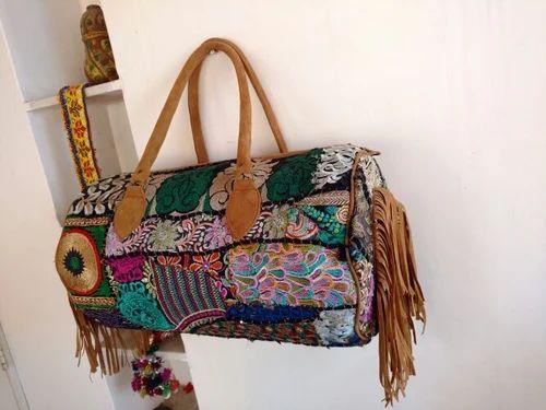 6afd320cfcc3 Handmade Multicolor Indian Banjara Vintage Luggage Bag Duffle Bag Travel Bag
