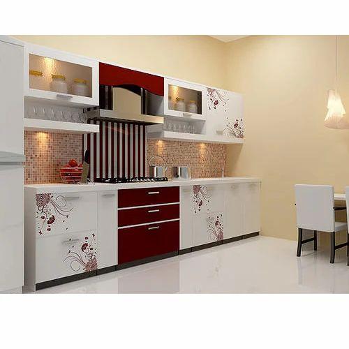 Laminated Modular Kitchen At Rs 690 Square Feet: Printed Modular Kitchen At Rs 1500 /squarefeet