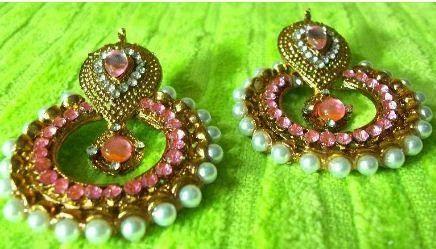 cfea5be4aa3 Pink Pearl Polki Earring at Rs 299