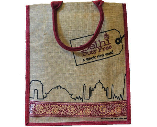 Customised Hand Held Ping Jute Bags For Corporate