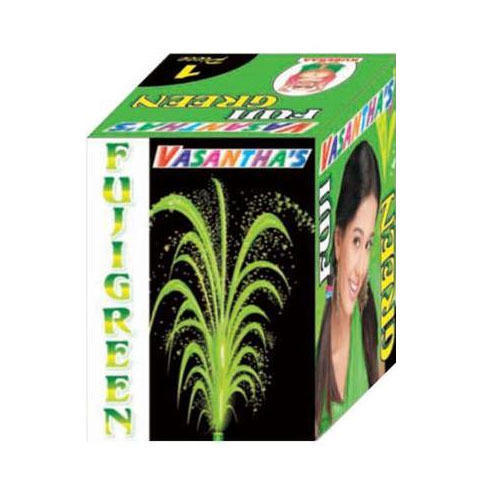 Fuzi Green Fountain Crackle
