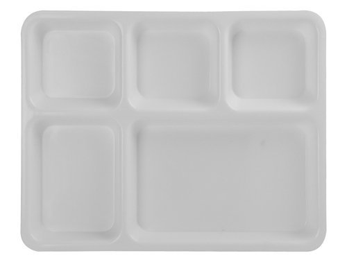 White Five Compartment Plastic Plate  sc 1 st  IndiaMART & White Five Compartment Plastic Plate at Rs 140 /piece | Compartment ...