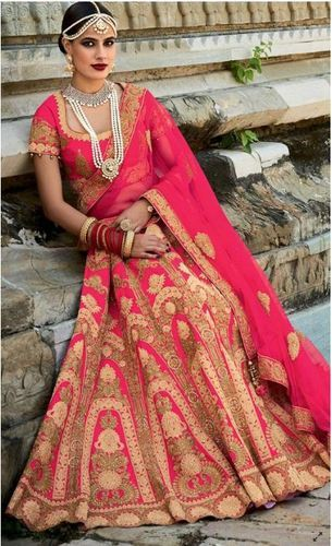 c66685b946d4e Pink Designer Wedding Bridal Lehenga at Rs 9799  piece