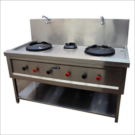 Four Burner Gas Chinese Cooking Range Manufacturer From