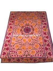 Handmade Indian Embroidery Bed Sheets