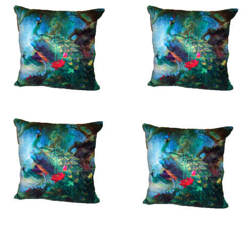 Mirac Pea Velvet Cushion Cover
