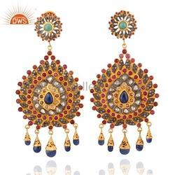 Sapphire Diamond Wedding Earring Jewelry