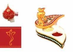 Gift Hamper - Marble Chopra, Roli Chawal, Greeting Card