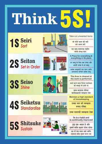 5s posters at rs 150 piece safety poster kaizen india mumbai