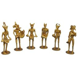 Musician Set Made in Brass Metal Statues Set of Six Musician Band masters
